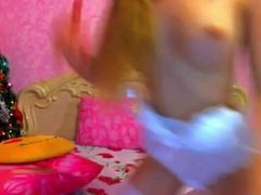 Big Titted Blonde Teen Webcam Stripping