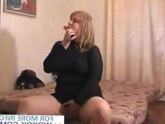 Amateur Blonde BBW Using Her Vibrating Toy WOXOK.COM