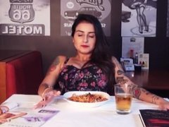 Multiple Orgasms in Public Restaurant