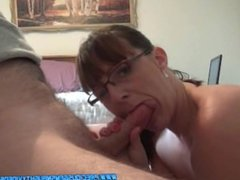 Mouth Full Of Cock & Cum In Mouth