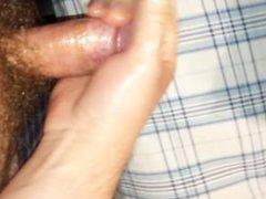 Quickie solo masturbation cum shot hard dick