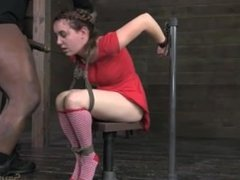 jessie parker tied up gives blowjob to 2 dudes