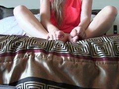 Cute blonde feet joi