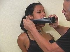 Drea tied up and gagged