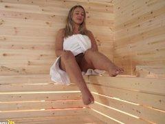 beth - sauna temptress(upskirt)