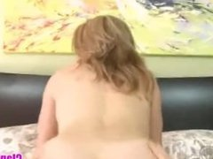 POV mom helps son to cum big load on her face