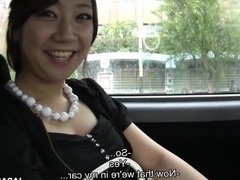 Excited Asian babe sucking off a fat penis