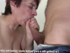 Well Skilled Granny Suck and Fuck Young Boy_s Cock