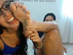 Amateur lesbian foot worship