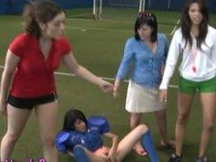 Hazed teen amateur rubs