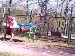 Upskirt Granny! Amateur hidden cam!
