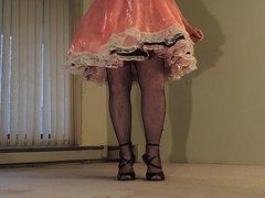 Sissy Ray in Pink Sissy Faggot Dress