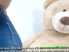 Horny Brunette Sex Cam at 1frecam com