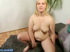 My Blonde Shy Ex GF Showing Her Hair pussy