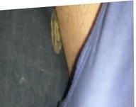 Cumming blue cotton panties