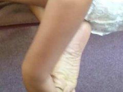 Friend's Candid Beautiful Ebony Feet at Church