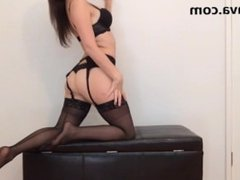 Sensual Stocking Seduction Femdom POV Pantyhose/Lingerie Tease