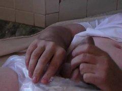 diapered sissybaby schoolgirl wetting himself