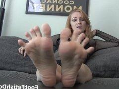 Foot worship fun time...
