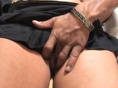 Granny fucked in all holes with fat black cocks