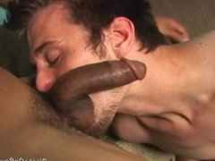 Horny twink gets drilled hard by a black guy