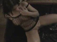 Piss drinking - Curvy girl enjoys playing with a mans piss