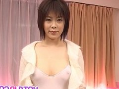 Brunette babe, Kasumi Uehara, craves for a good fuck