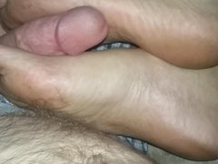 rub dick on wife's dirty feet