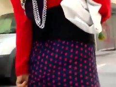 Turkish Hijab Checking Her Ass