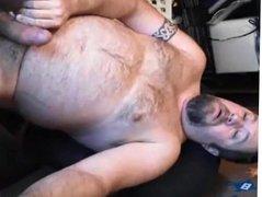 Bear strokes and cums