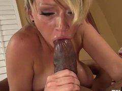 Busty Blonde Slut Fucked By Big Black Cock!