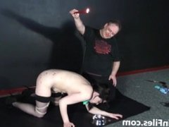 Humiliated slave Isabel Deans pegged and punished to tears in hard amateur