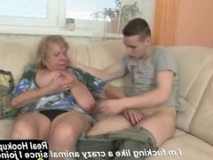 World_s Best Granny Suck and Fuck Young Lucky Boy