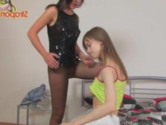 StraponCum: Bad Girl In Fishnet. Part 1 of 2. The Freshman In College...