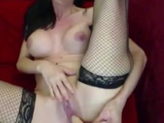Gagging raven Tiffany with huge tits and tight pussy