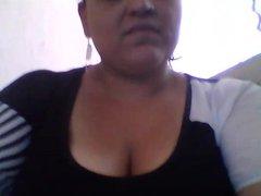 hot big mexican lorena shows big boobs 2 bf in skyp cam p-2