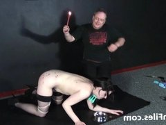 Humiliated slave Isabel Deans pegged and punished to tears