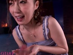 CFNM japanese sucks and loves cum in mouth