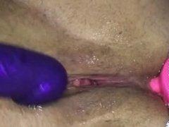 Wife's new toys make her cum