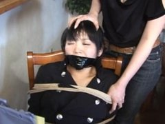 Japanese Girl Bound To Chair