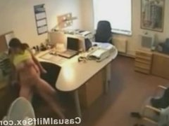 Cheating wife from CasualMilfSex(dot)com fucked in the office on hidden cam