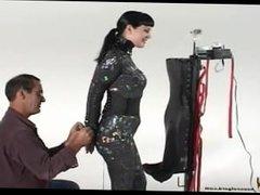 Blow job training for slave girl