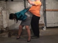 Milf kidnapped then cuffed in basement