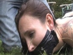 girl overpowered bound tape-gagged and robbed