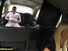 Female taxi driver spunked on bigtits