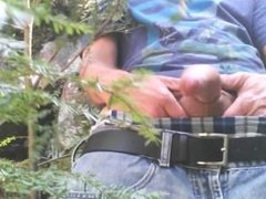 First jerk off video in the wood of the years 2016 #2