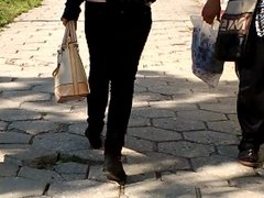 two bulgarian teens walking