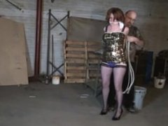 Party girl kidnapped and tied up