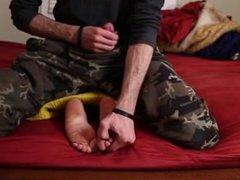 Leticia's Random Foot Tickling (+ A Secret Jerk Off)