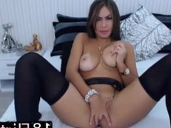 18flirt – The beautiful latina Celeste Milan with big jugs and bubble ass